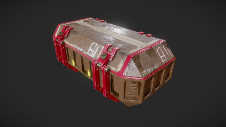 Scifi Container 3D Model