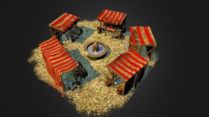Iberian Market 3D Model