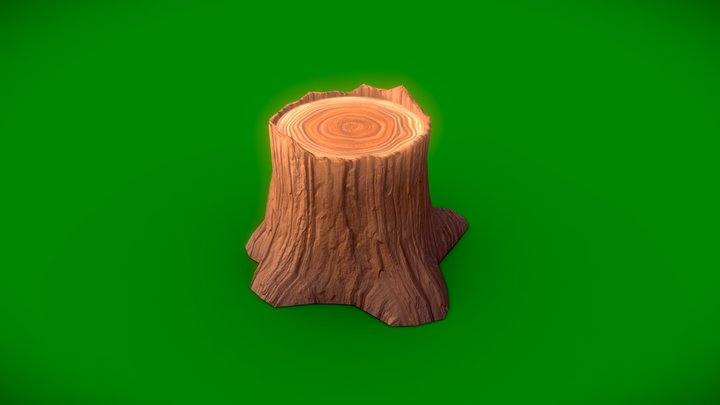 Stylized Tree trunk 3D Model