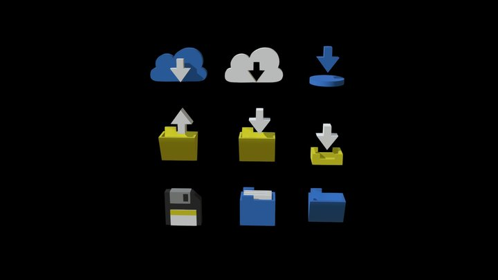 3D icons _ Folder theme _with animation 3D Model