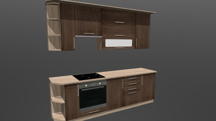 Kitchen Cabinet 9 3D Model
