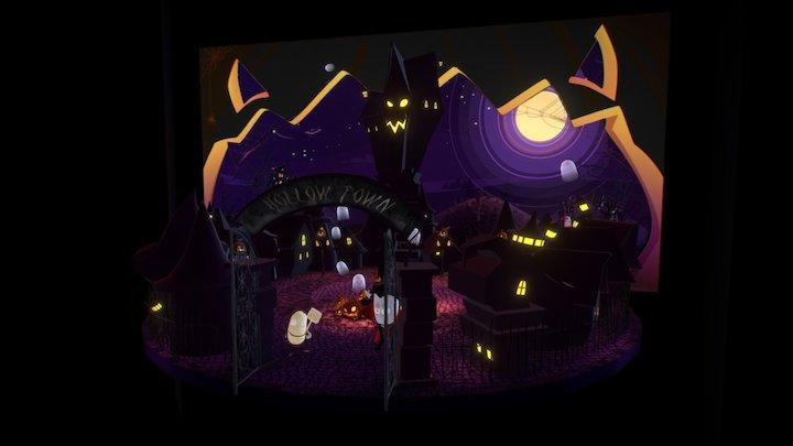 Halloween AR E-Card 3D Model