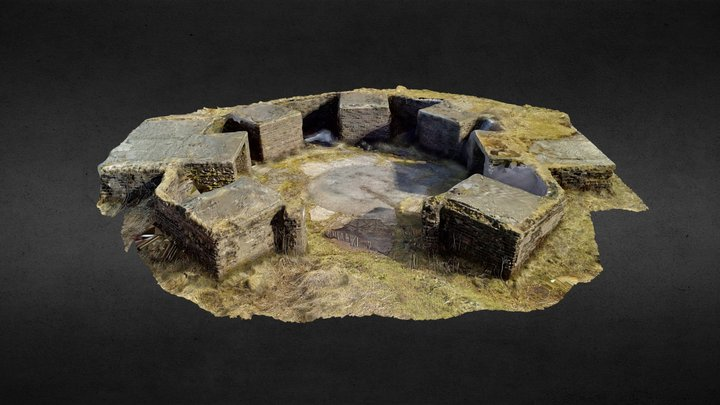 Mugdock Anti-Aircraft Battery 3D Model