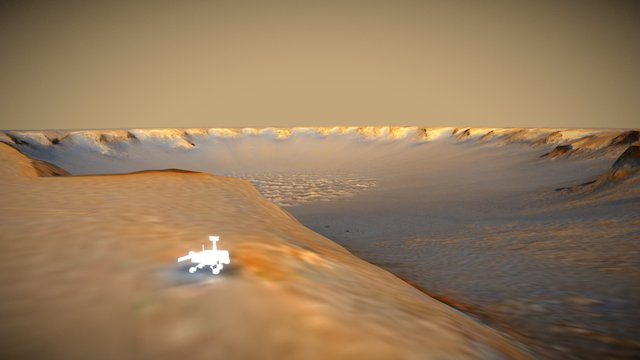 MER Opportunity @ Victoria Crater 3D Model