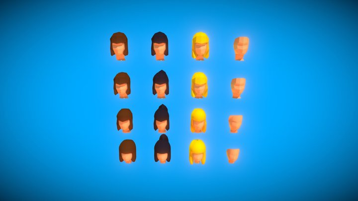 Low poly women 3D Model