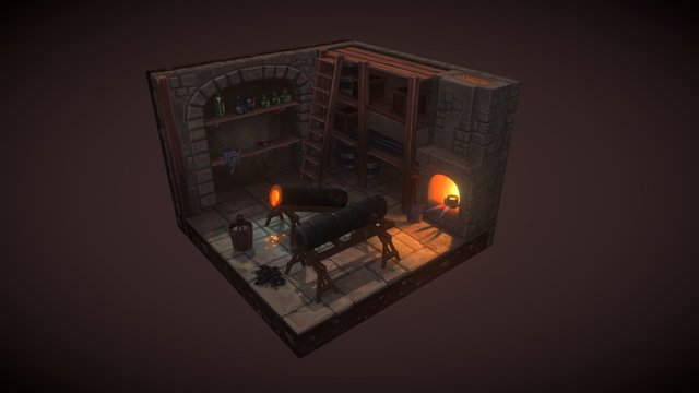 Cannon Foundry - Superflat Games 3D Model