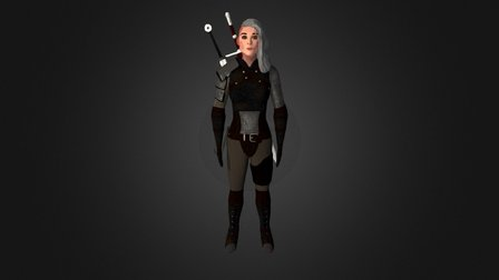 Witcher Female 3D Model