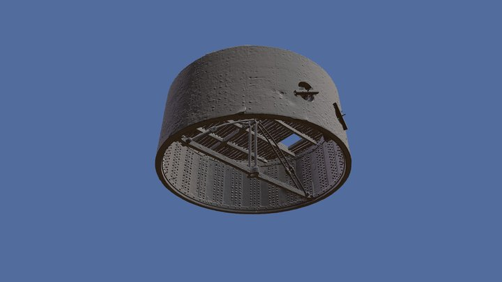 USS Monitor Turret 3D Model