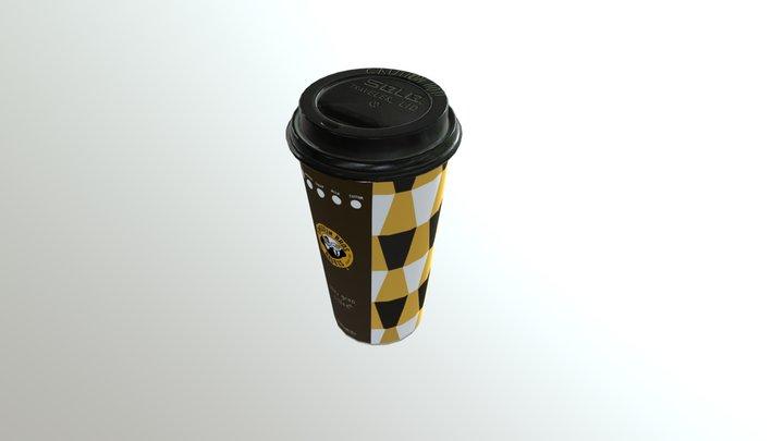 Einstein Bros Coffee Cup 3D Model