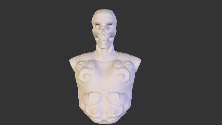 Sculptember Day 7 & 8 Plated Monster 3D Model