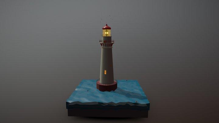Маяк 3D Model
