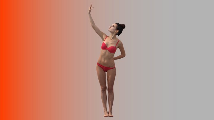 Cleaned Raw 3D Body scan of Waja Standing 3D Model