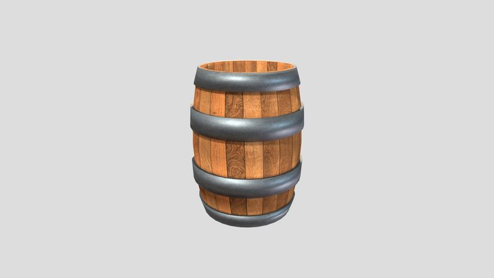 Donkey Kong Country 2 - Barrel 3D Model