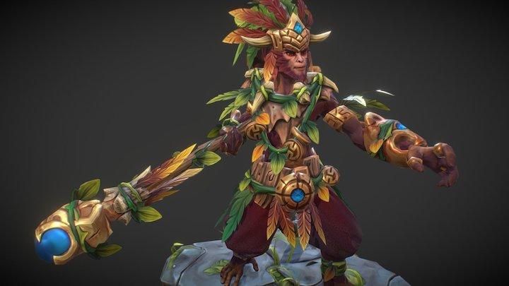 Path of the Jungle - Monkey King set 3D Model