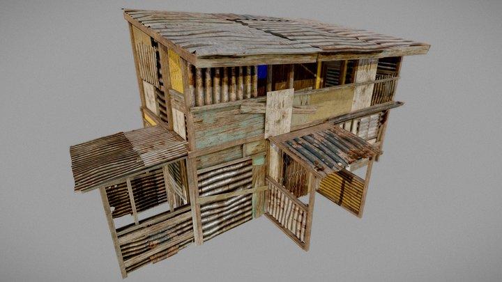 Squatter House 01 - PBR 3D Model