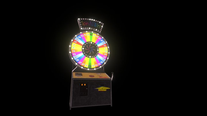 Spin-N-Win Game 3D Model