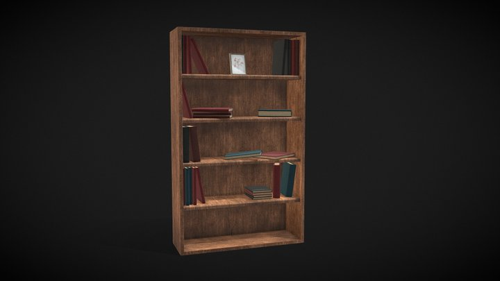 Simple Book Shelf | [FREE] | Agustin Honnun 3D Model