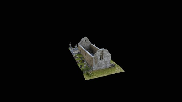 Killursa Church, Headford, Co. Galway, Ireland 3D Model