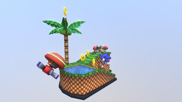 Sonic Scene || Videogame FanArt 3D Model