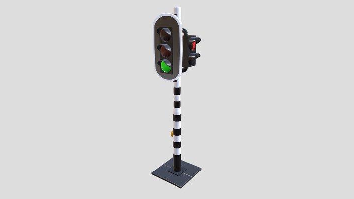 Dutch Traffic Light 3D Model