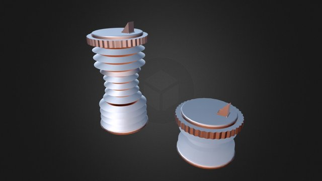 Krunch Bottle With Spout Cap (Update) 3D Model