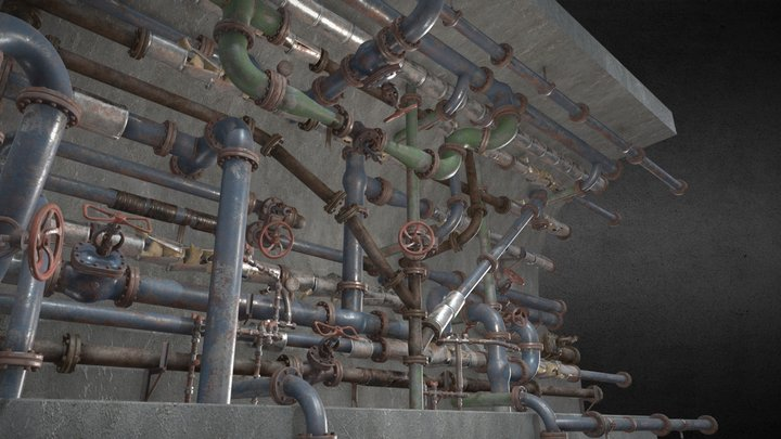 Pipes pack 3D Model