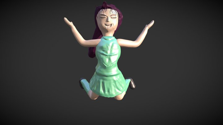 """Sculpt January18 day 31: ,,happiness"""" 3D Model"""