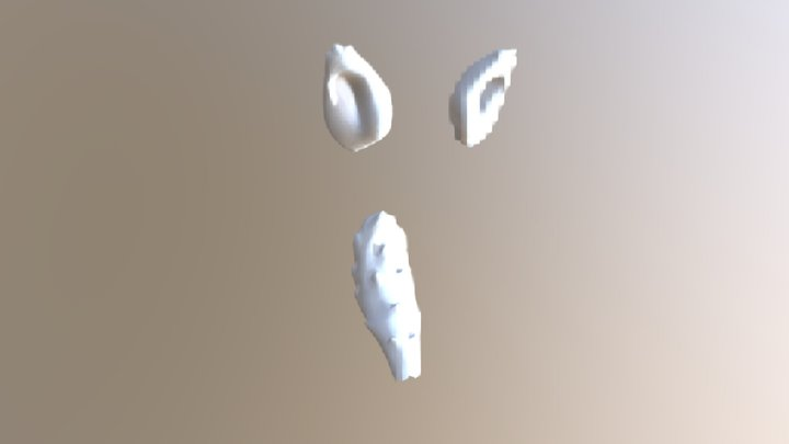 WEREWOLF EARS AND TAIL [WHITE] [TRADE] 3D Model