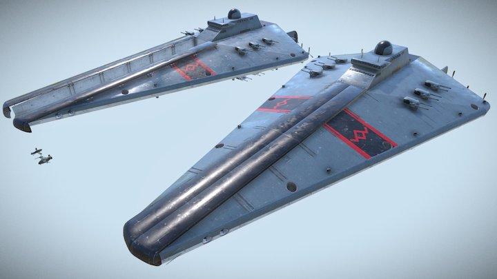 Imperial Sky Destroyer. 3D Model