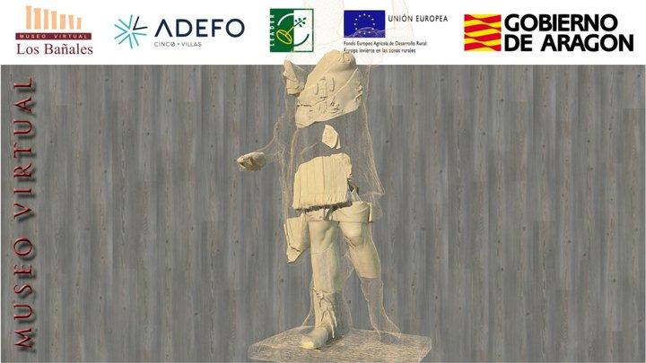 Estatua del emperador Domiciano (siglo I d.C.) 3D Model