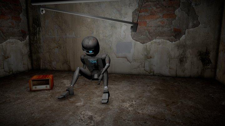 Robot Tom Scene 3D Model