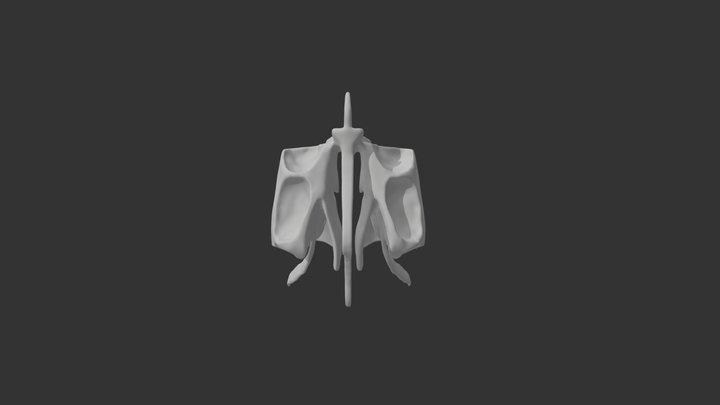 Ethmoid bone 3D Model