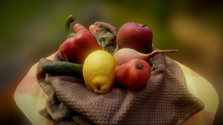 Vegetable Basket 3D Model