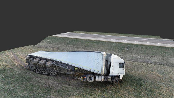 Truck accident 3D Model