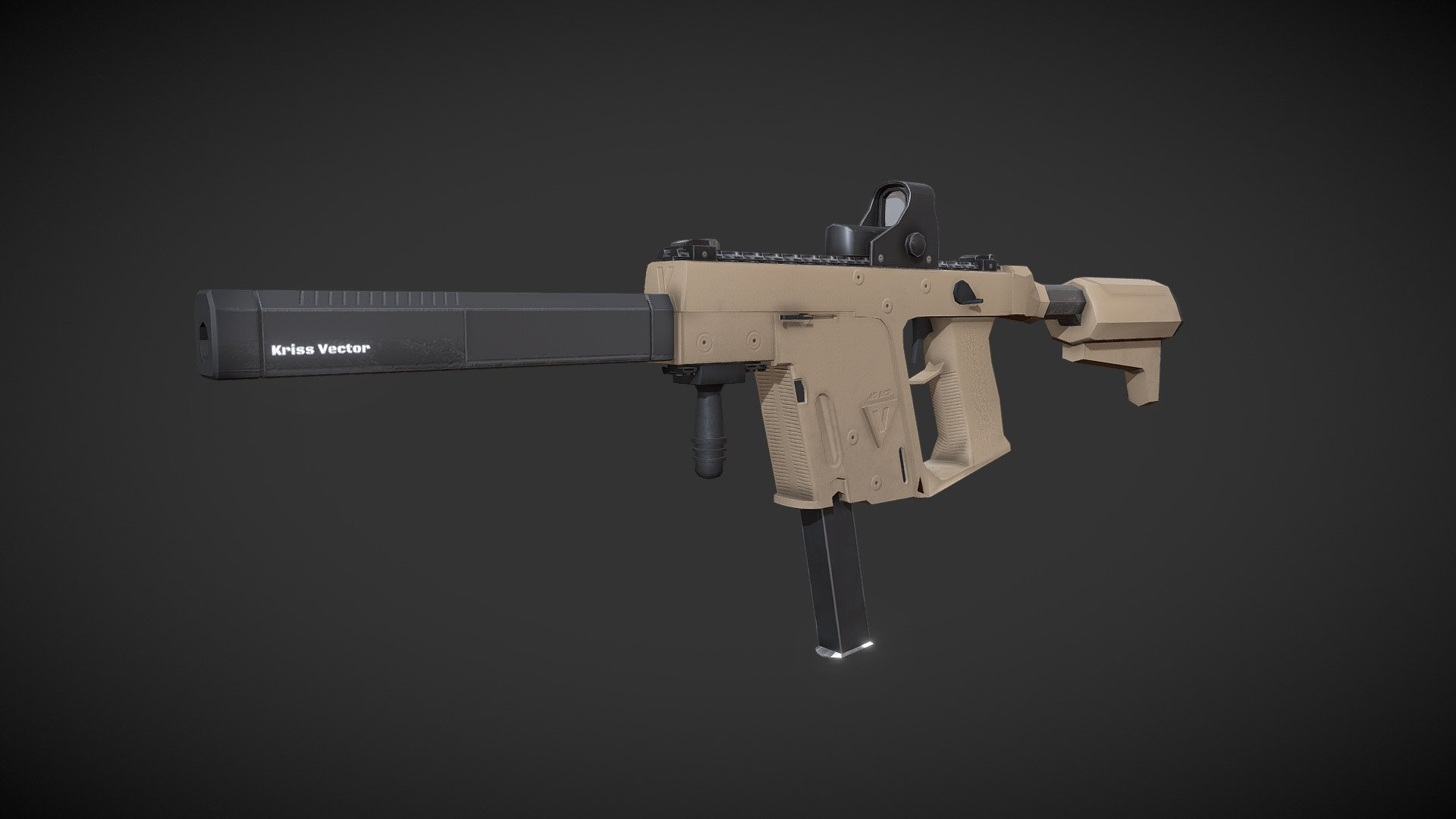 Kriss Vector 3d Model By Harley Rogers At Hrogers