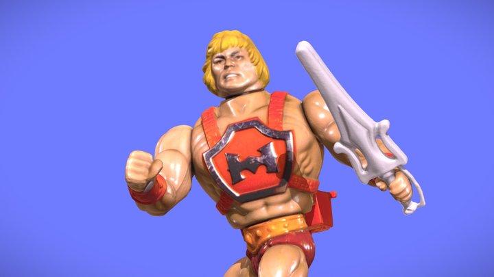 80s MOTU HE-MAN FIGURE - 3D SCAN 3D Model