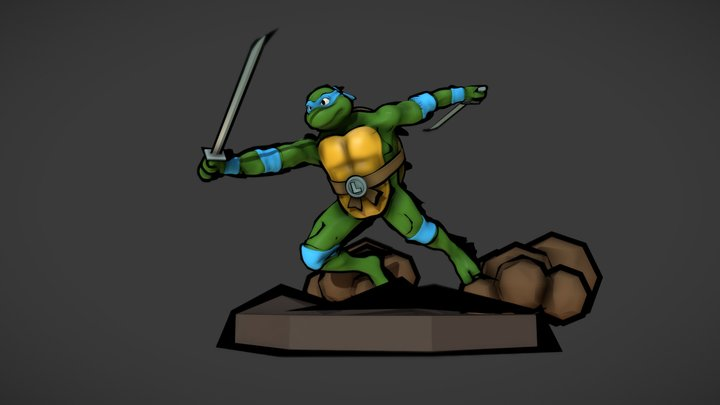 Teenage Mutant Ninja Turtles - Leonardo 3D Model