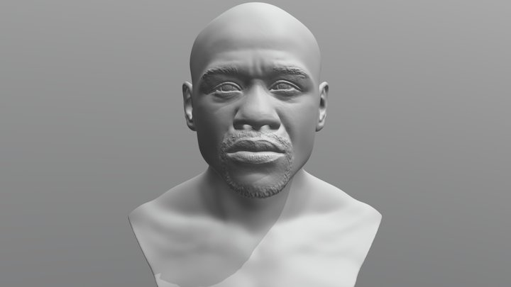 Floyd Mayweather bust for 3D printing 3D Model