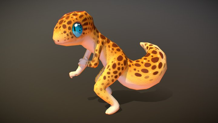 Shy Leopard Hunter [Hand Painted] 3D Model