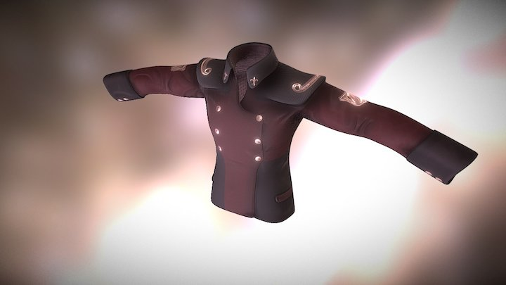 Scifi Captains uniform / Coat for cartoon / game 3D Model