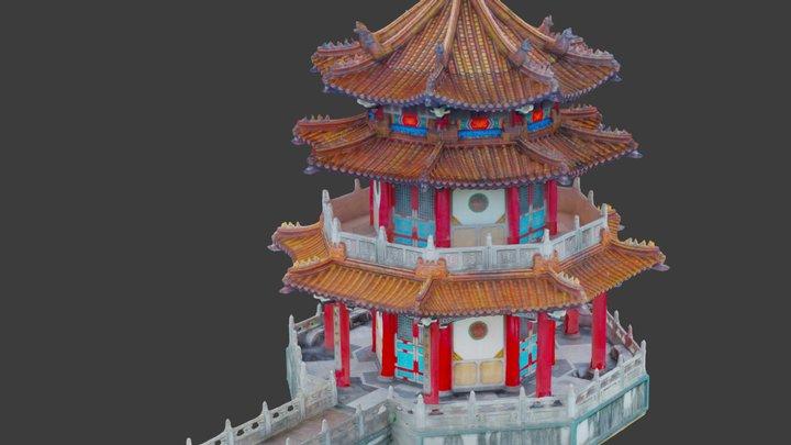 Chinese Pagoda in Taipei, Taiwan 3D Model