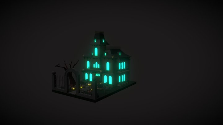 Halloween ghosts home 3D Model