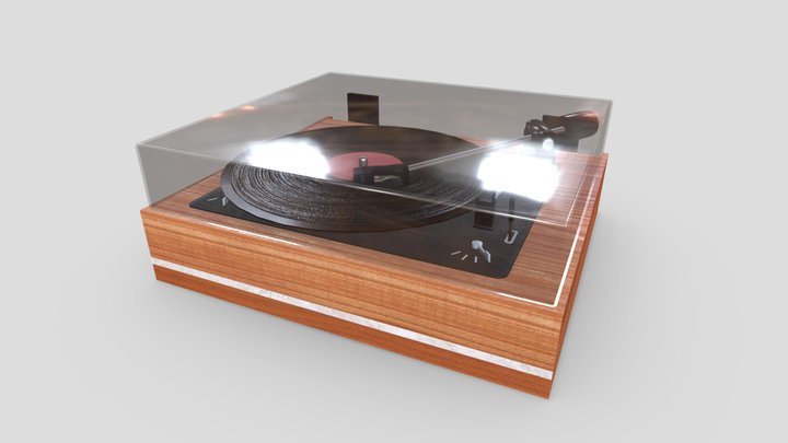 Record player for vinyls 3D Model