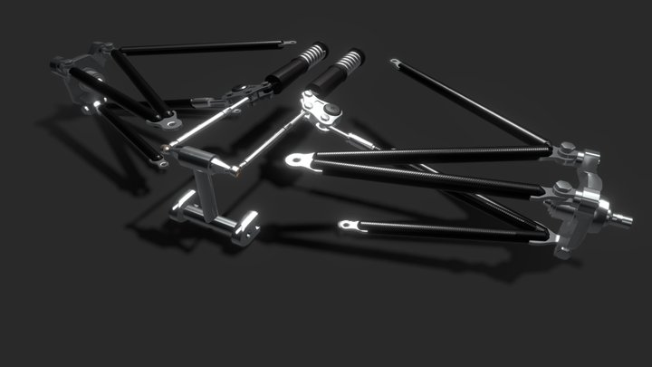 Formula E Push rod Suspension 3D Model