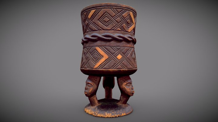 African style vase 3D Model
