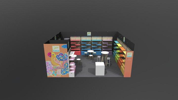 STAND DJECO_SPRINGFAIR-BIRMINGHAM 2018 3D Model