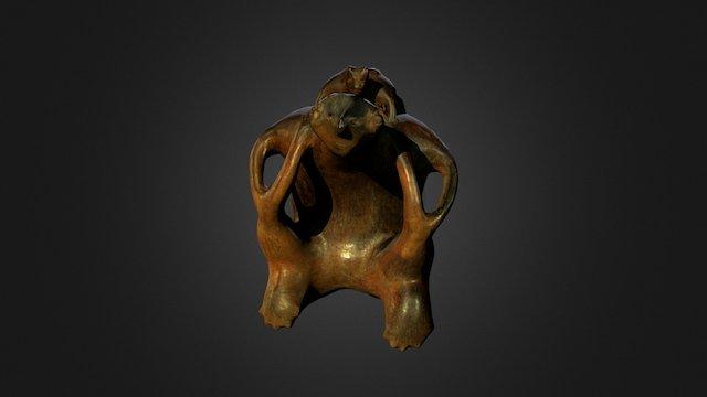 Statuette anthropomorphe avec animal, Nayarit ? 3D Model