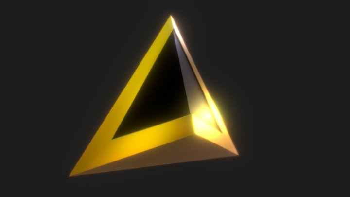 Daft Punk Triangle Necklace 3D Model