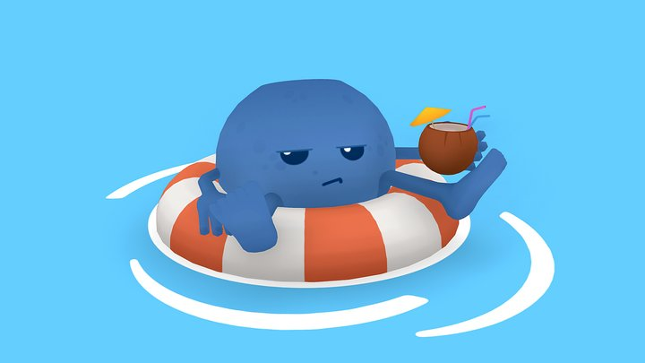 Blueberry on Vacation 3D Model
