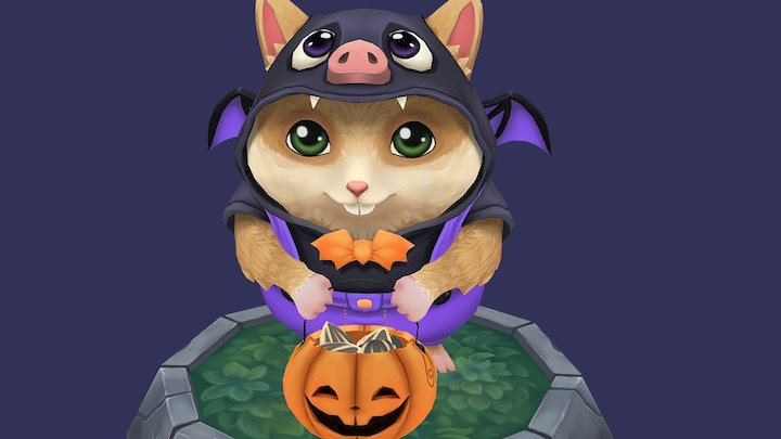 Trick or Seed - Halloween's Hamster 3D Model